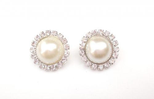 Pearl and Crystal Button Embellishments