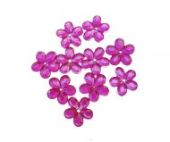 10mm Crystal Flowers Cerise