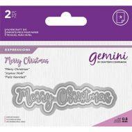 Gemini Expressions Merry Christmas Die Set