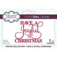 Have A Joyful Christmas Sentiment Die