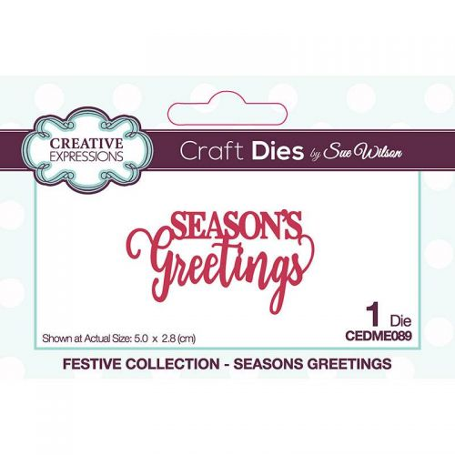Seasons Greetings Christmas Sentiment Die