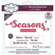 Seasons Christmas Stamp and Die Set