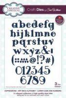 Art Deco Alphabet Die Set Lowercase and Numbers