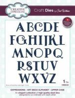 Art Deco Alphabet Die Set Uppercase