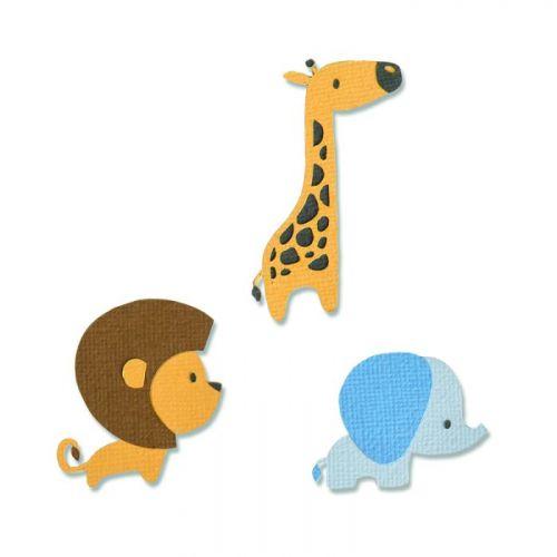 Thinlits Baby Jungle Animals Die Set