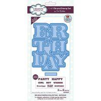 Big Bold Birthday Stamp and Die Set