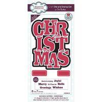 Big Bold Words Christmas Stamp and Die Set