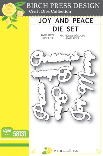 Joy and Peace Die Cutting Set