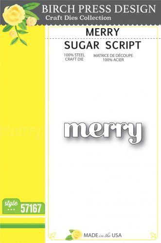Sugar Script Merry Word Die