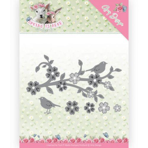 Blossom Branch and Birds Die Set