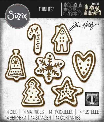 Sizzix Thinlits Christmas Cookies Die Set