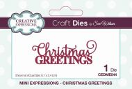 Christmas Greetings Mini Expressions Craft Die