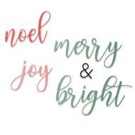Christmas Phrases Die Set