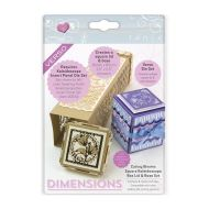 Cutesy Blooms Square Kaleidoscope Box Lid and Base Set