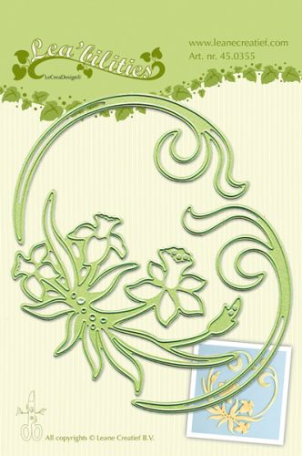 Daffodils and Swirls Die Cutter