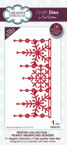 Festive Collection Pearly Snowflake Border Die