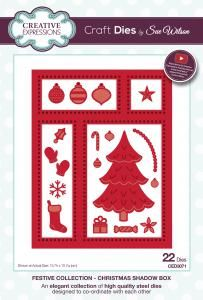 Festive Shadow Box Die Set