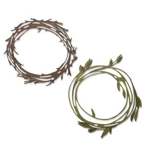 Sizzix Thinlits Funky Wreaths Die Set