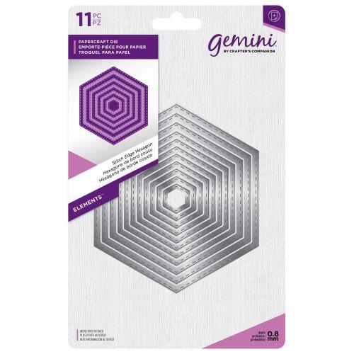 Gemini Stitched Edge Hexagon Dies