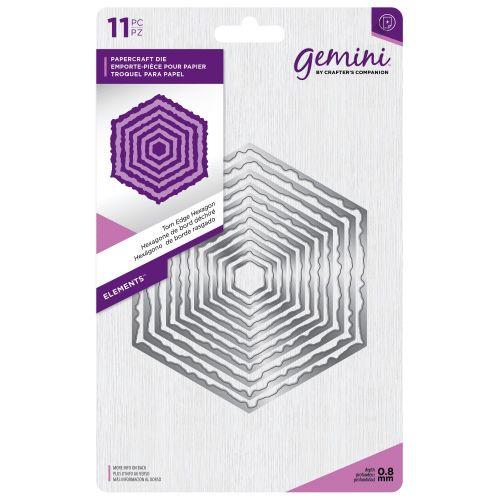 Gemini Torn Edge Hexagon Dies