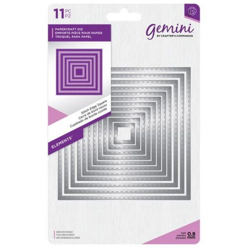 Gemini Stitched Edge Squares Die Set (OUT OF STOCK)