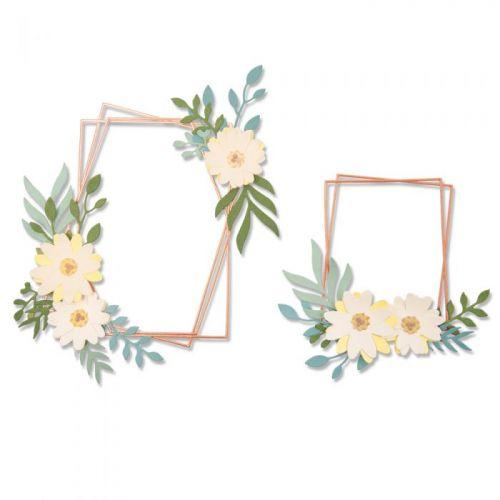 Thinlits Geo Floral Frames Die Set