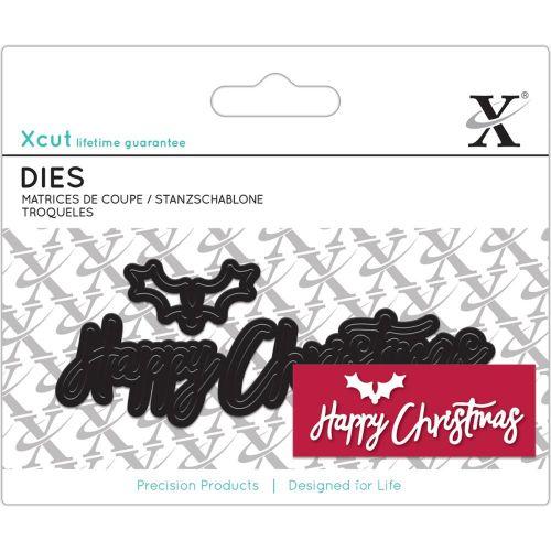XCut Mini Christmas Dies Happy Christmas