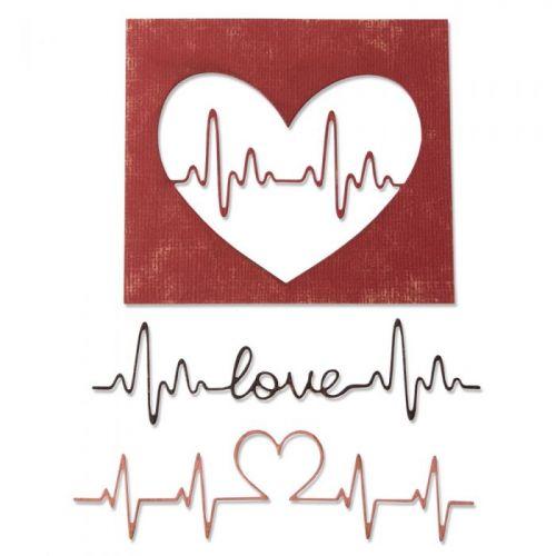 Tim Holtz Thinlits Heartbeat Die Set