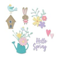 Thinlits Hello Spring Die Set
