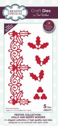 Holly and Berry Border Die Set