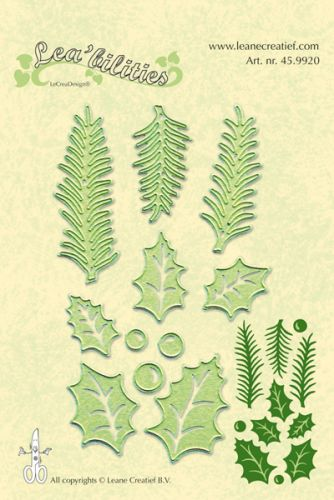 Holly Leaf and Pine Branch Die Set