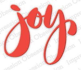 Joy Christmas Sentiment Die