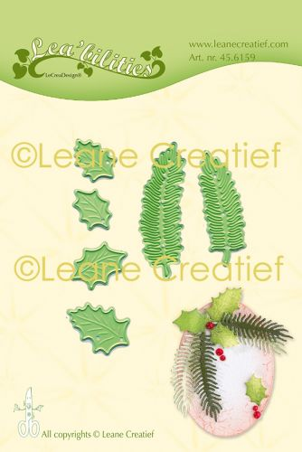Holly Leaf and Pine Branch Die Set