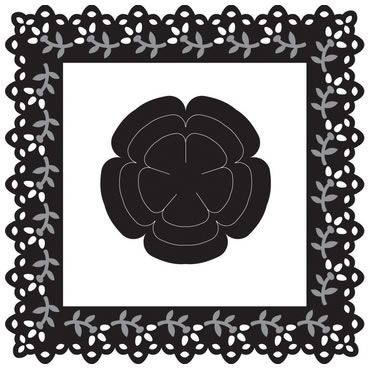 Marianne Craftable Square with Flower