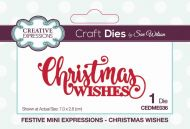 Festive Mini Expressions Christmas Wishes Die