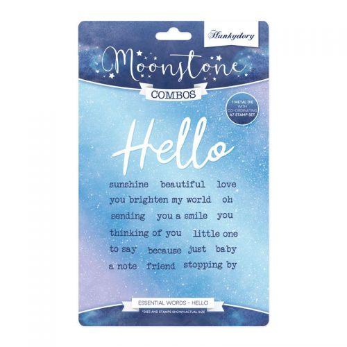 Hello Essential Words Stamp and Die Set