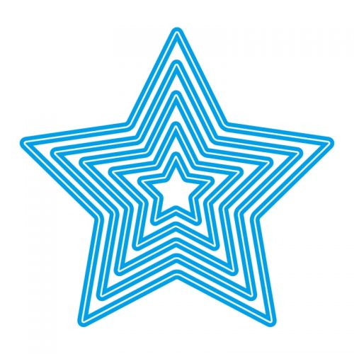 Nested Star Die Cutting Stencil