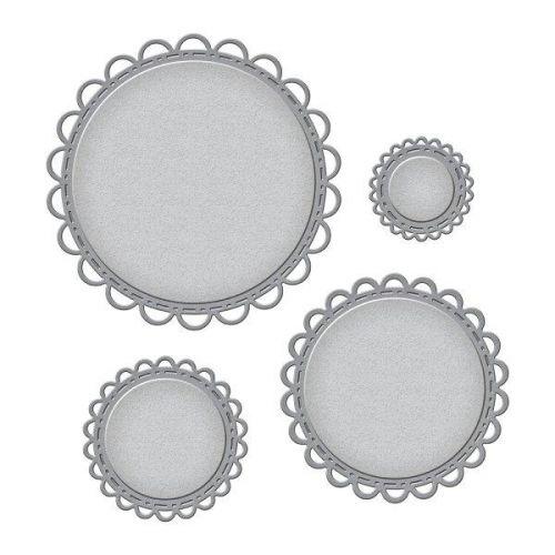 Open Scallop Edge Circles Die Set