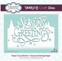 Paper Cuts Seasons Greetings Edger Die