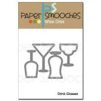 Paper Smooches Drink Glasses Die Set