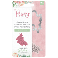 Peony Corner Bloom Stamp and Die Set