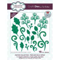 Pine Cone and Holly Leaf Die Set