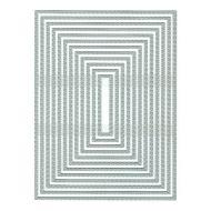 Presscut Stitch Dot Rectangle Frames Die Set