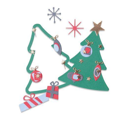 Sizzix Retro Christmas Tree Die Set