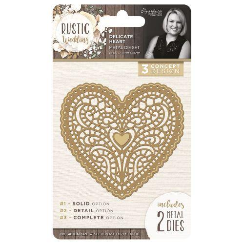 Rustic Wedding Delicate Heart Die Set