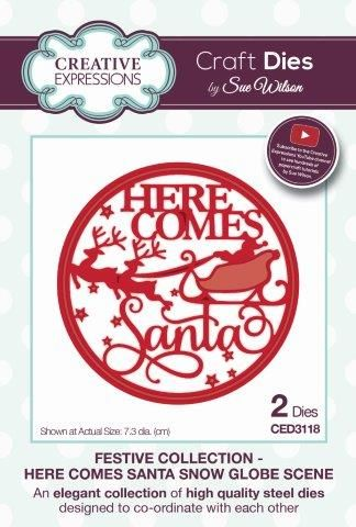 Here Comes Santa Snow Globe Scene Die Set (OUT OF STOCK)