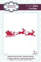 Santas Flying Sleigh and Reindeer