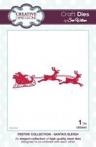 Santas Flying Sleigh and Reindeer