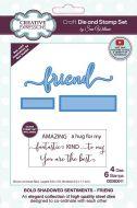 Shadowed Sentiments Stamp and Die Set Friend