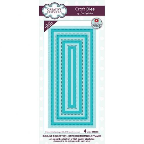 Slimline Stitched Rectangle Frames Die Set (OUT OF STOCK)